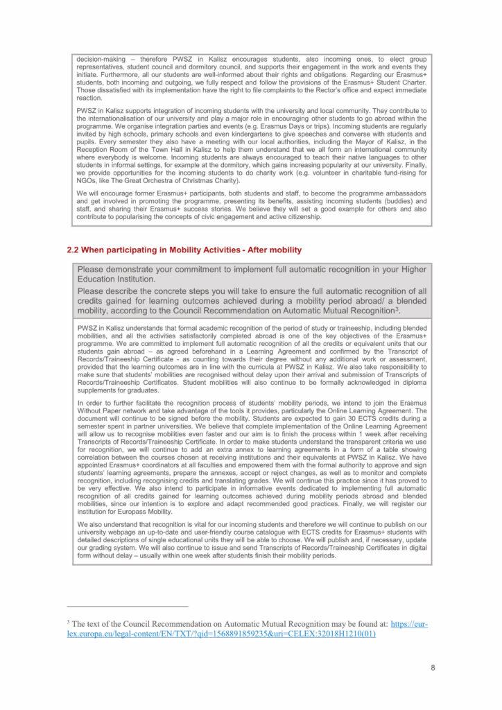 deklaracja polityki erasmus 2021-2027 strona 8