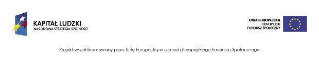 logo kapitał ludzki oraz unii europejskiej