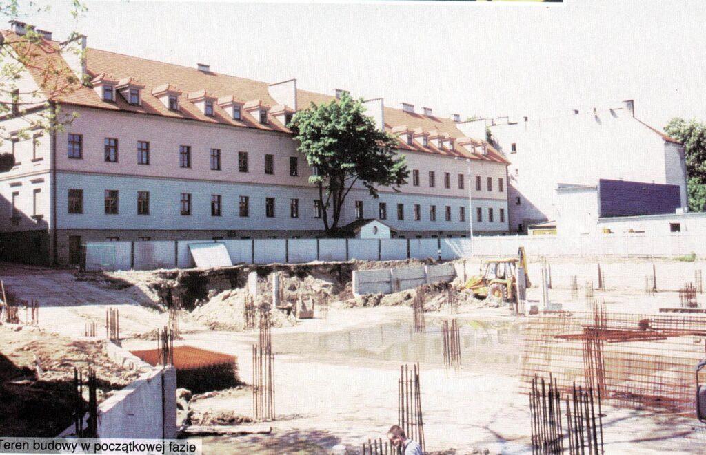 zdjęcie z budowy pawilonu dydaktycznego