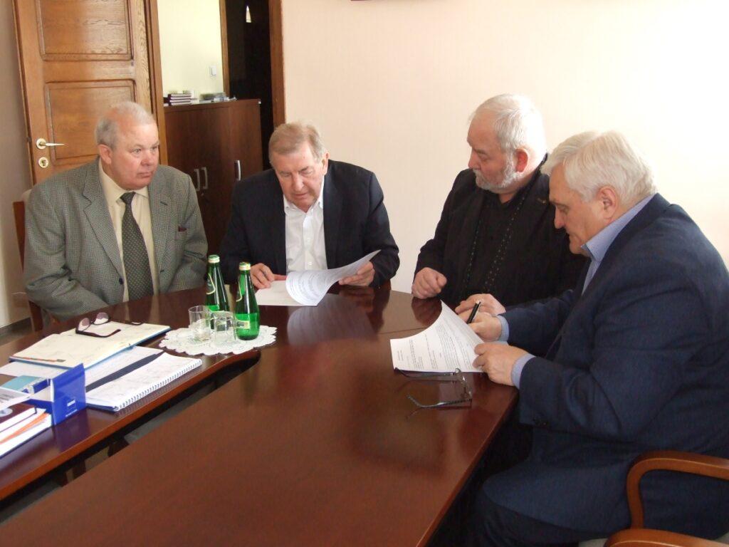spotkanie władz uczelni w sprawie powstania ośrodka badawczego