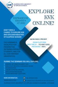 Klapeida State University of Applied Sciences - webinarium