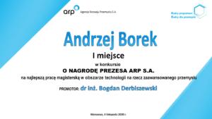 najlepsza praca mgr Andrzej Borek grafika
