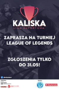 kaliska liga esportowa plakat