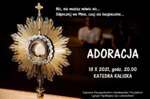 adoracja katedra kaliska - grafika informacyjna